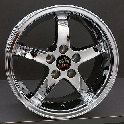 17 Cobra Wheels Chrome 17x9 Set Rim Fits Mustang®