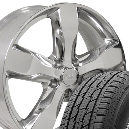 Grand Cherokee Polished Wheels Rims General Grabber HTS 275 45 Tires
