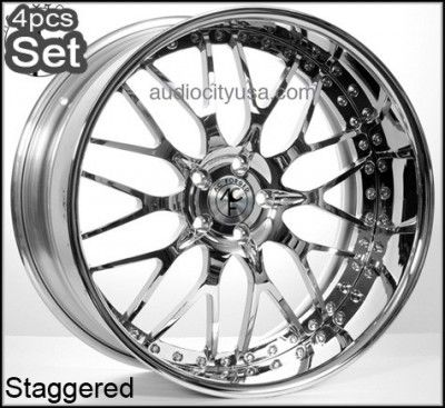 22 AC Forged Custom Build Wheels Rims 300C Magnum Charger Challenger